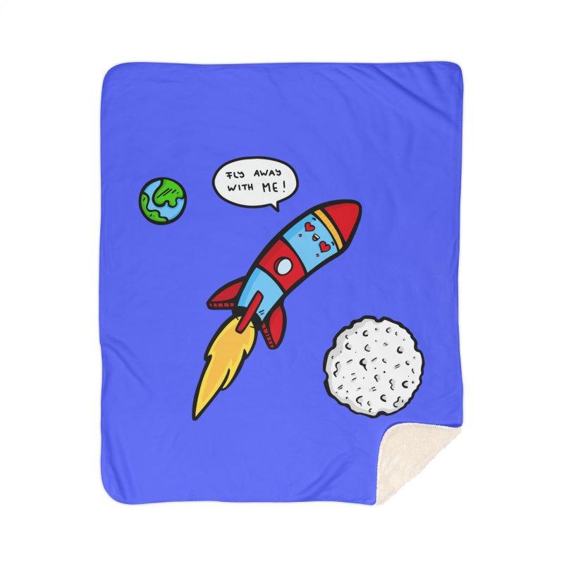 Fly Away Home Sherpa Blanket Blanket by Piratart Illustration