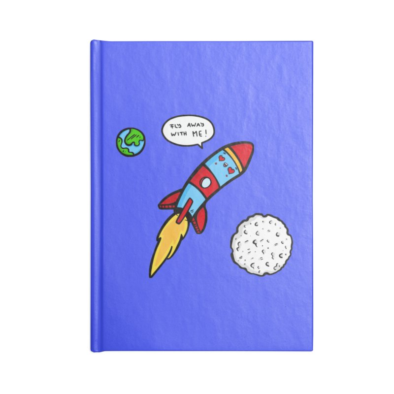 Fly Away Accessories Lined Journal Notebook by Piratart Illustration