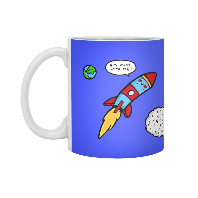 Fly Away Accessories Mug by Piratart Illustration