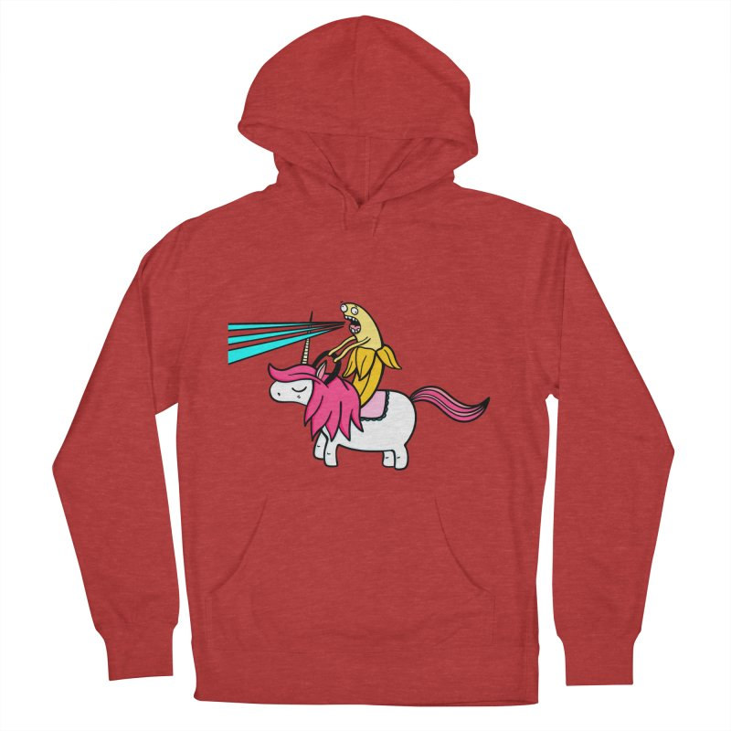 Banana rules the world Women's French Terry Pullover Hoody by Piratart Illustration