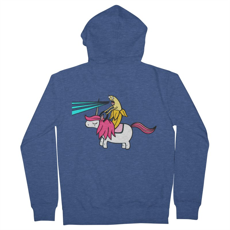 Banana rules the world Women's French Terry Zip-Up Hoody by Piratart Illustration