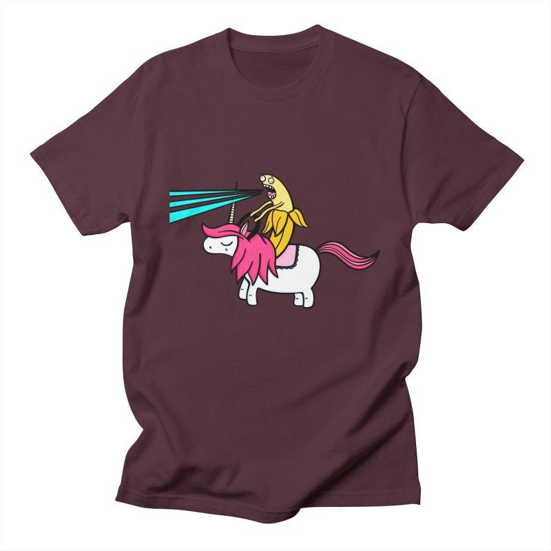 Banana rules the world Women's Regular Unisex T-Shirt by Piratart Illustration