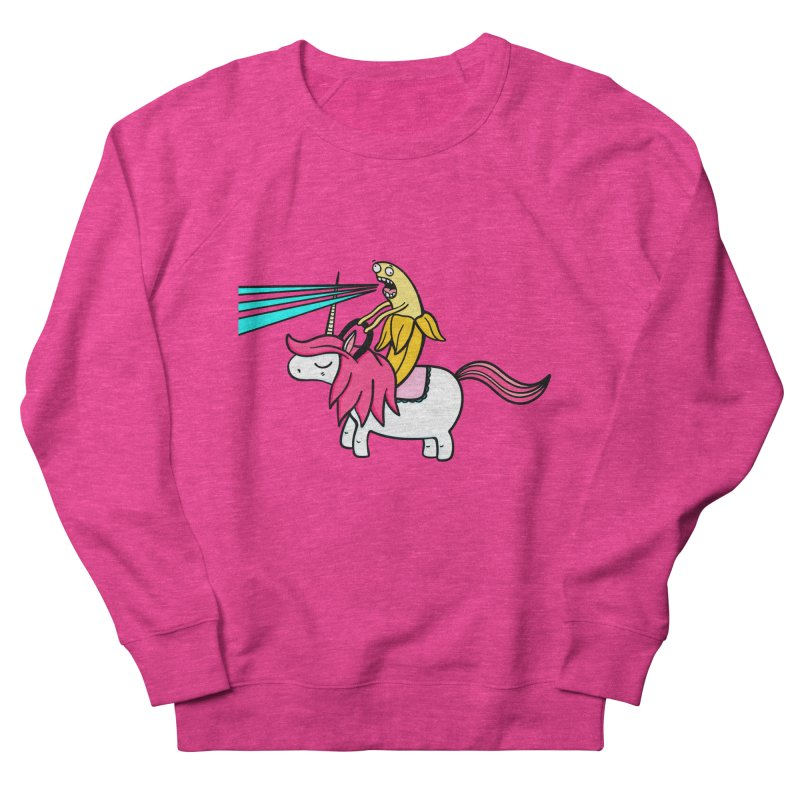 Banana rules the world Women's French Terry Sweatshirt by Piratart Illustration