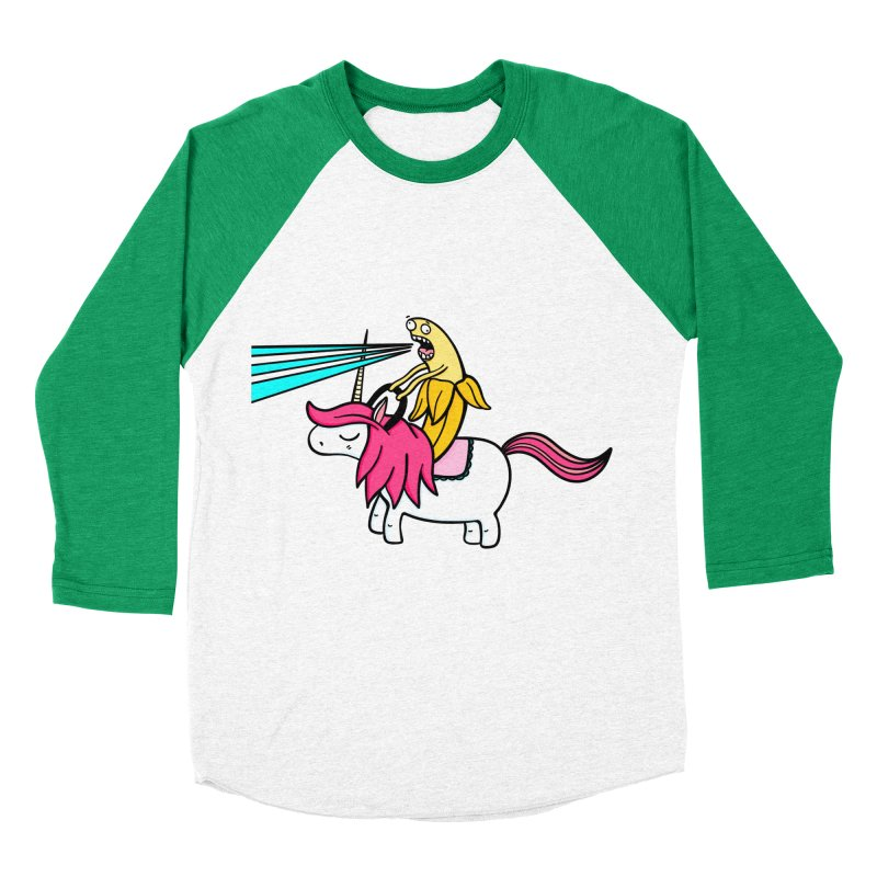 Banana rules the world Women's Baseball Triblend Longsleeve T-Shirt by Piratart Illustration