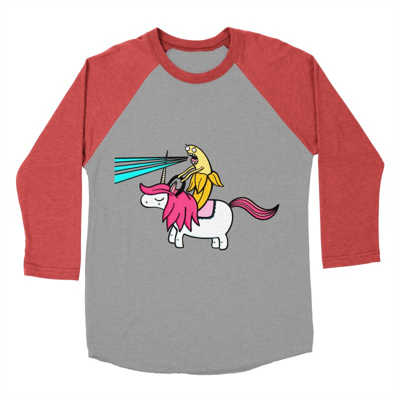 Banana rules the world Women's Baseball Triblend Longsleeve T-Shirt by Piratart Illustration