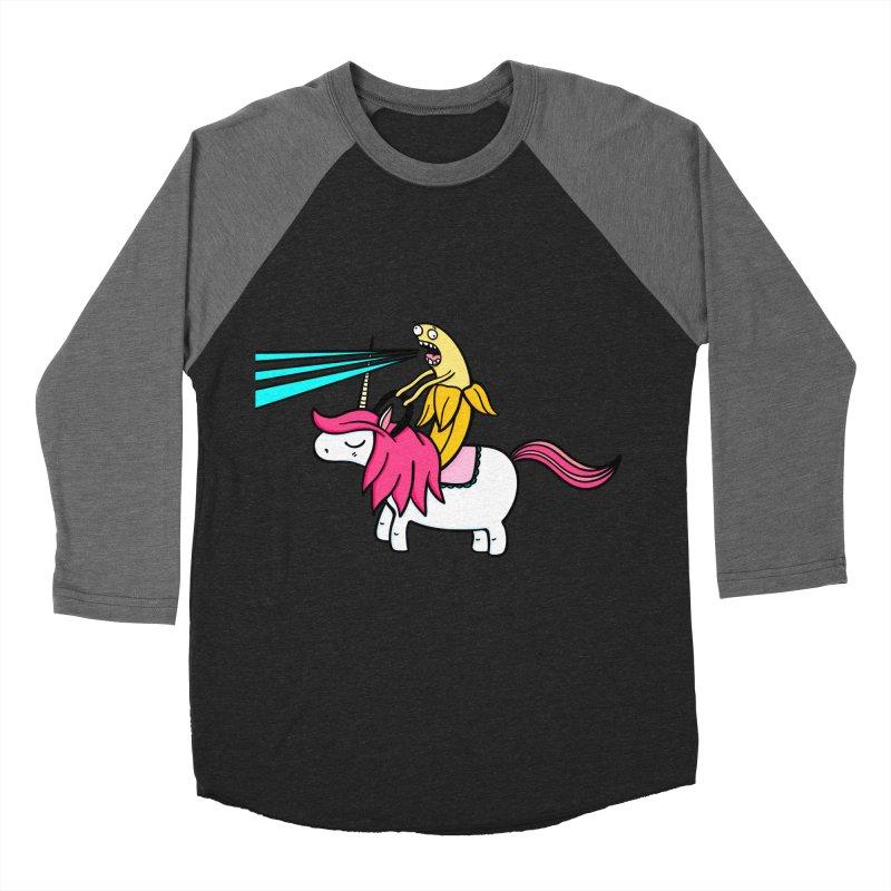 Banana rules the world Women's Baseball Triblend T-Shirt by Piratart Illustration