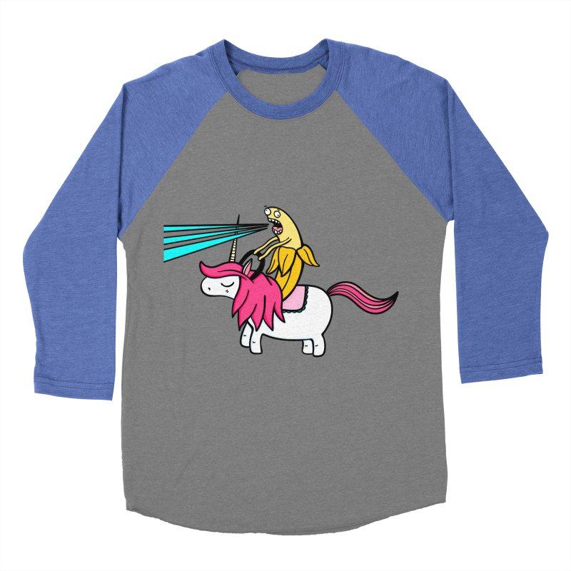 Banana rules the world Men's Baseball Triblend Longsleeve T-Shirt by Piratart Illustration