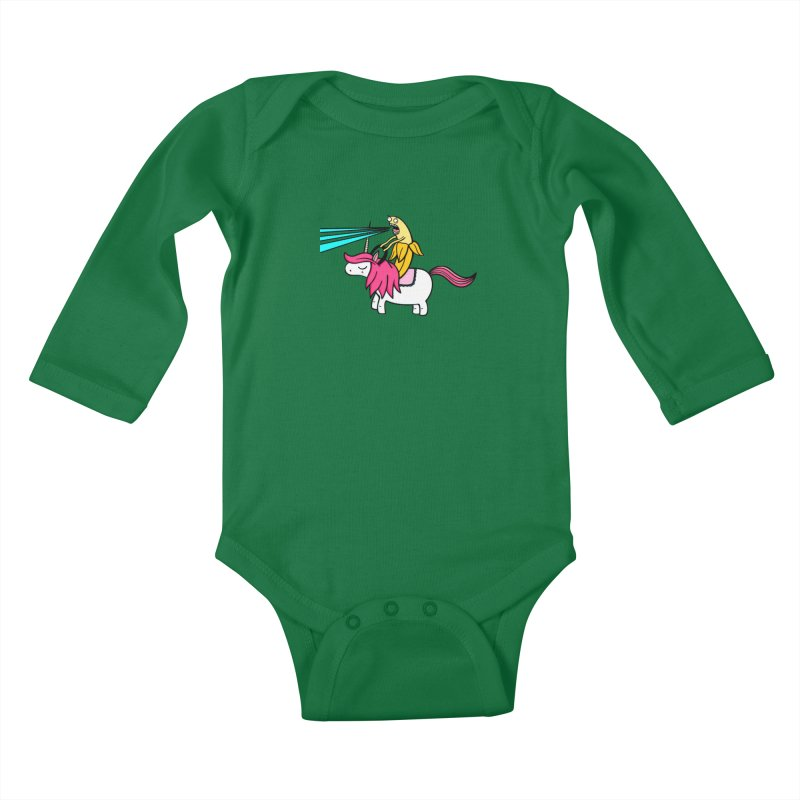 Banana rules the world Kids Baby Longsleeve Bodysuit by Piratart Illustration