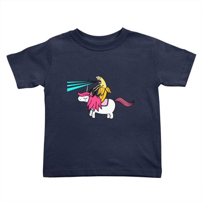 Banana rules the world Kids Toddler T-Shirt by Piratart Illustration