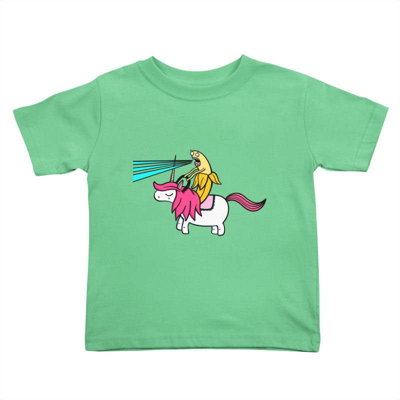 Banana rules the world Kids Toddler T-Shirt by Piratart Illustration