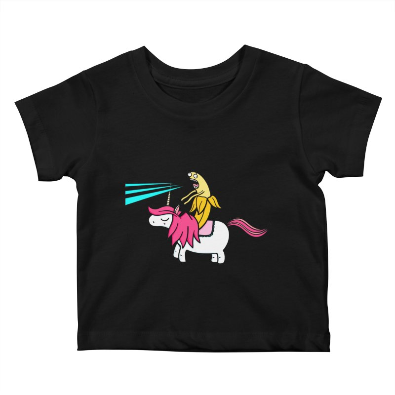 Banana rules the world Kids Baby T-Shirt by Piratart Illustration