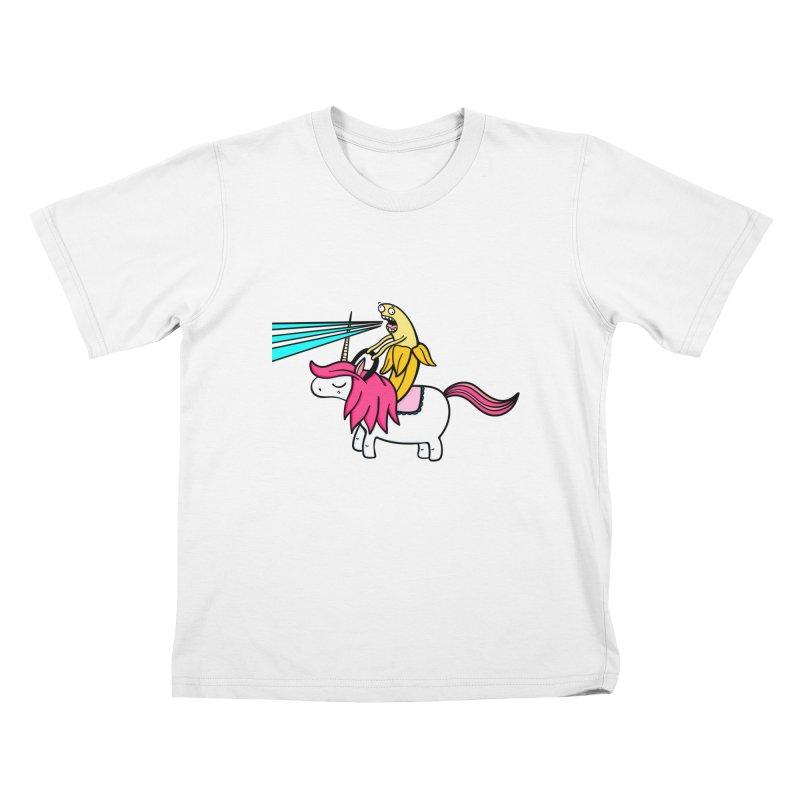 Banana rules the world Kids T-shirt by Piratart Illustration