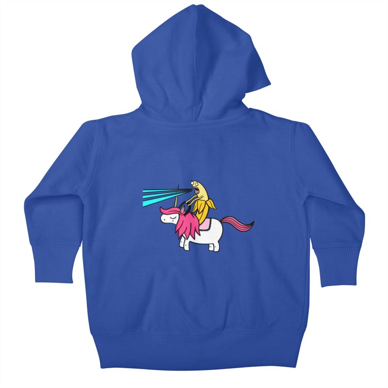 Banana rules the world Kids Baby Zip-Up Hoody by Piratart Illustration