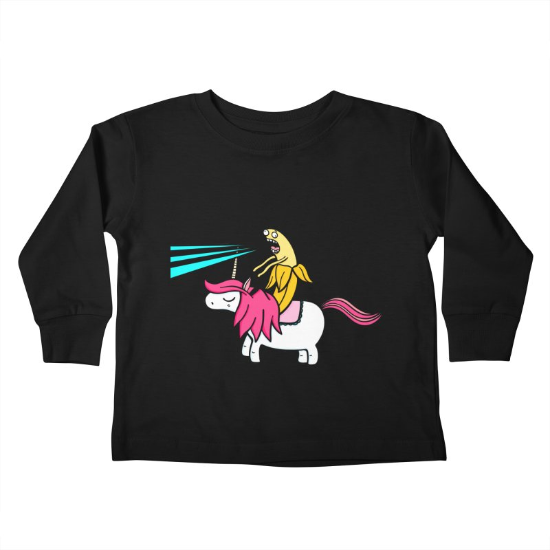 Banana rules the world Kids Toddler Longsleeve T-Shirt by Piratart Illustration