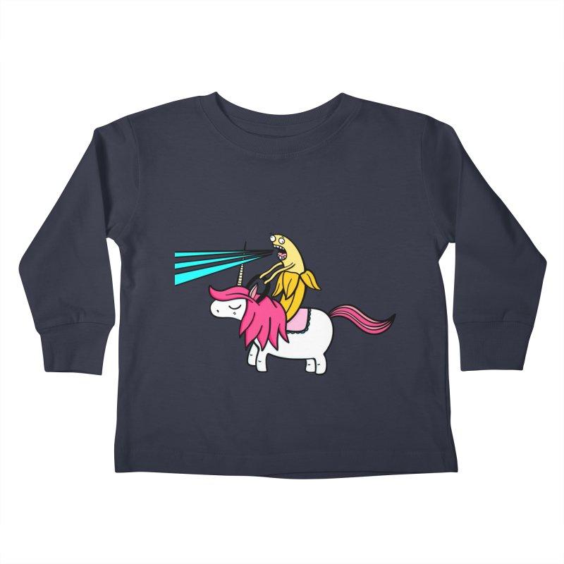 Banana rules the world Kids Toddler Longsleeve T-Shirt by Piratart Illustration