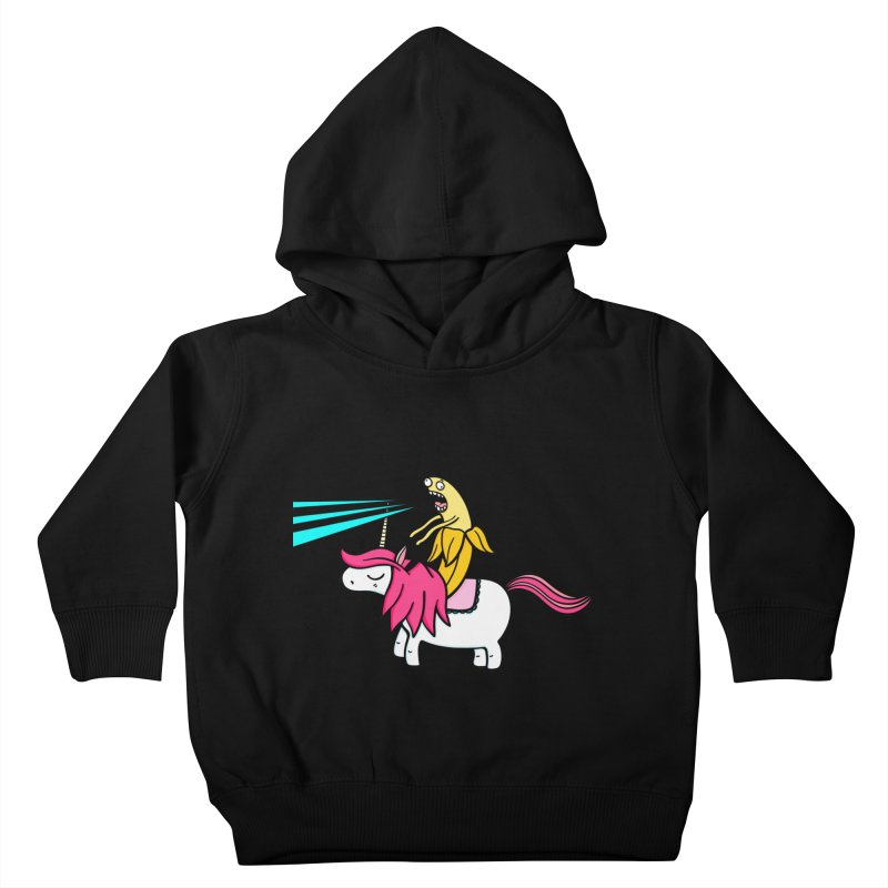 Banana rules the world Kids Toddler Pullover Hoody by Piratart Illustration