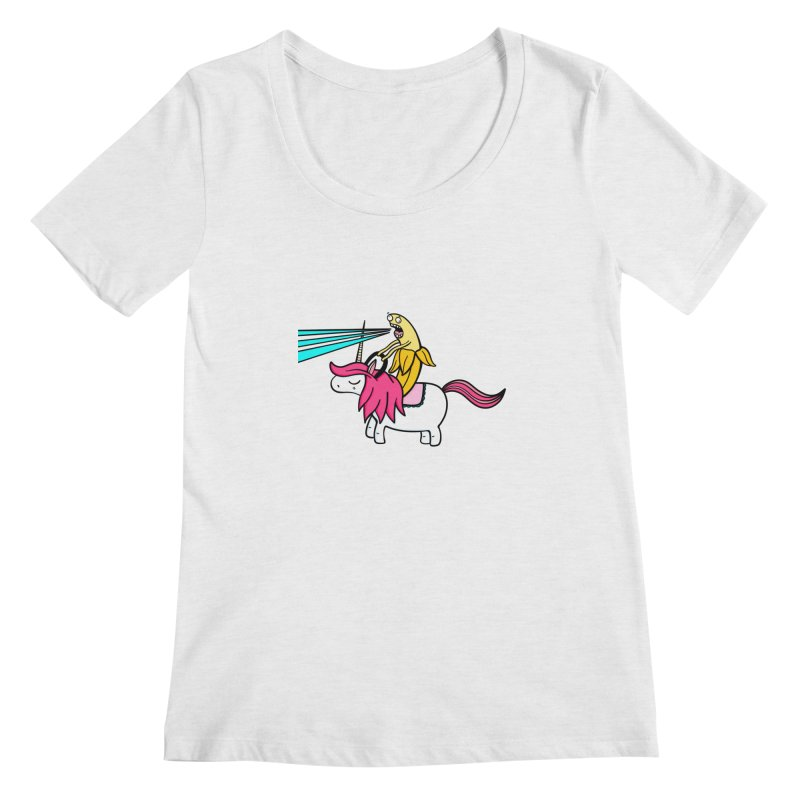 Banana rules the world Women's Regular Scoop Neck by Piratart Illustration