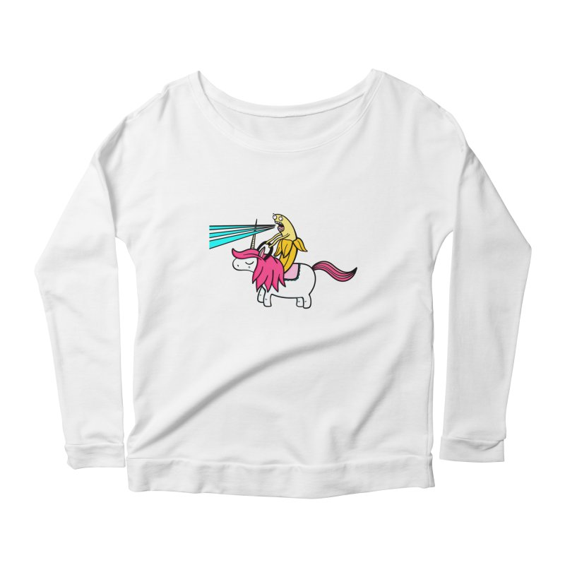 Banana rules the world Women's Longsleeve T-Shirt by Piratart Illustration