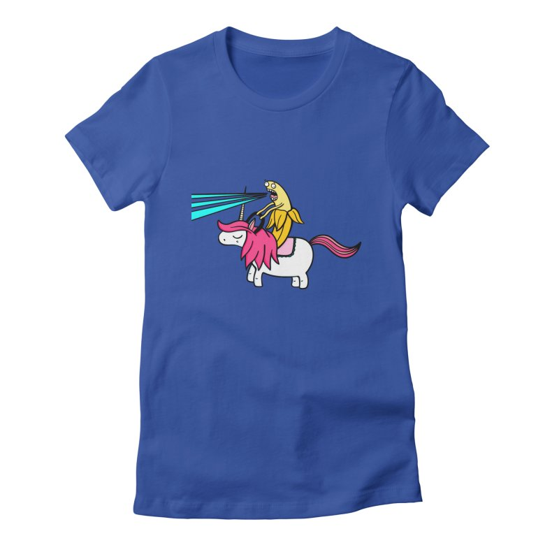 Banana rules the world Women's Fitted T-Shirt by Piratart Illustration
