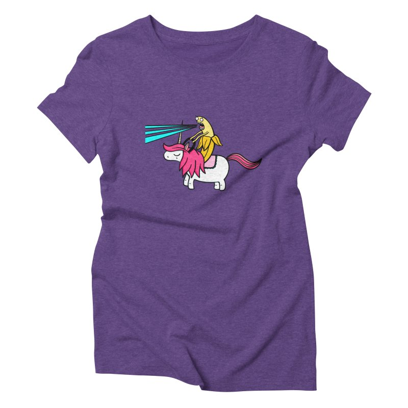 Banana rules the world Women's Triblend T-shirt by Piratart Illustration