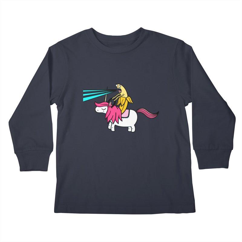 Banana rules the world Kids Longsleeve T-Shirt by Piratart Illustration