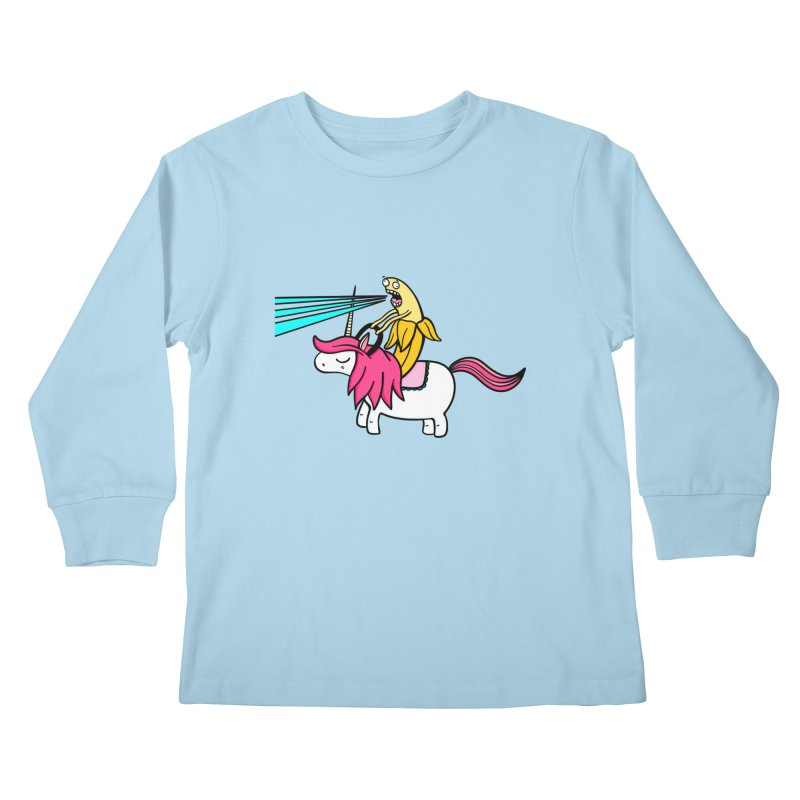 Banana rules the world Kids Longsleeve T-Shirt by Piratart Illustration