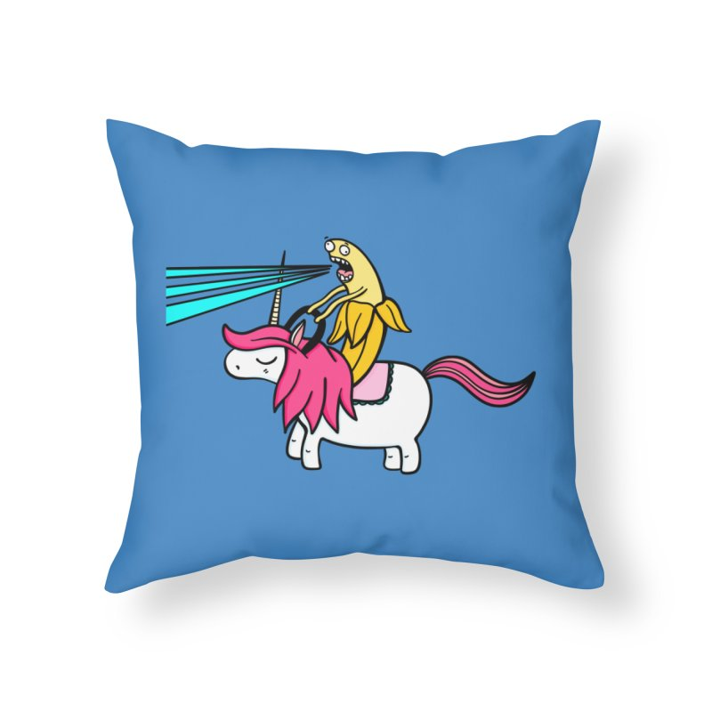 Banana rules the world Home Throw Pillow by Piratart Illustration
