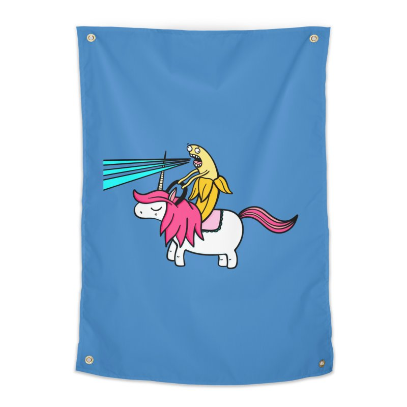 Banana rules the world Home Tapestry by Piratart Illustration