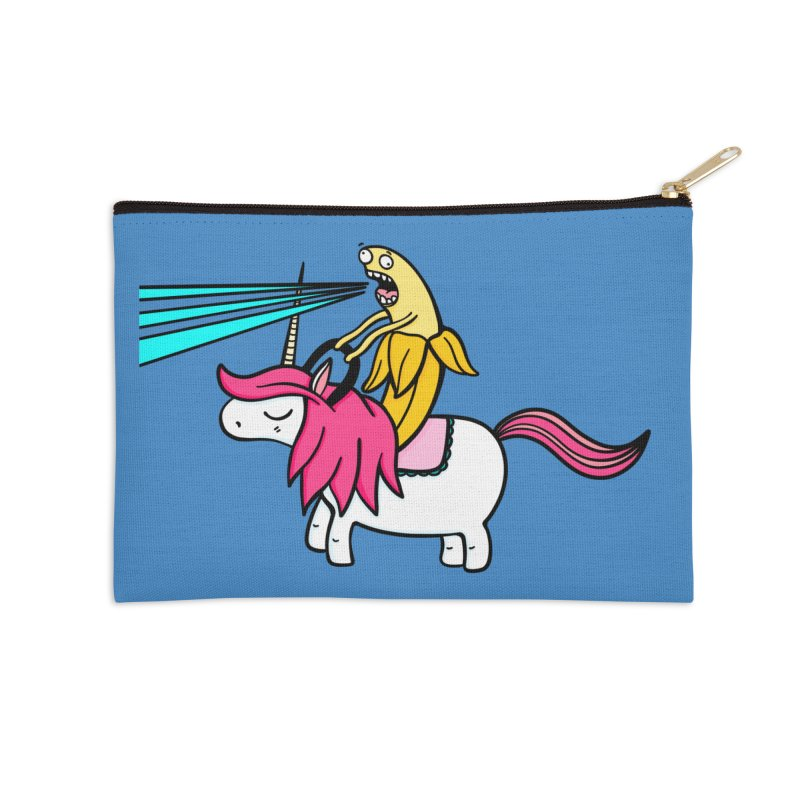 Banana rules the world Accessories Zip Pouch by Piratart Illustration