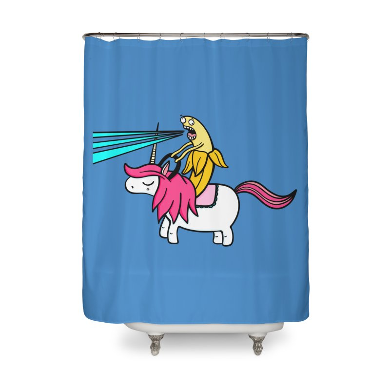 Banana rules the world Home Shower Curtain by Piratart Illustration