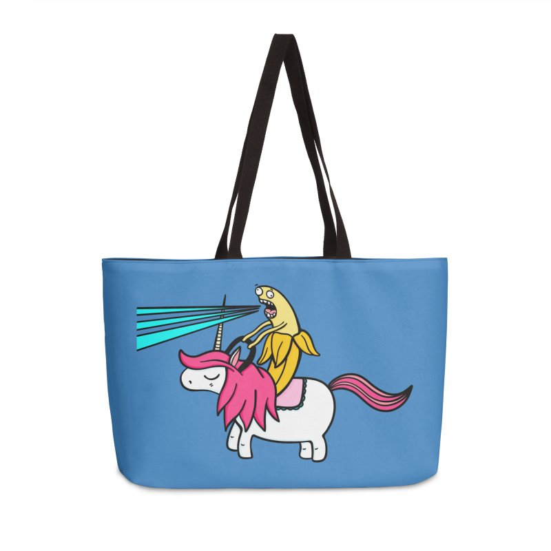 Banana rules the world Accessories Weekender Bag Bag by Piratart Illustration