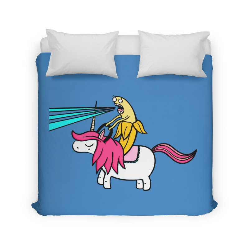 Banana rules the world Home Duvet by Piratart Illustration