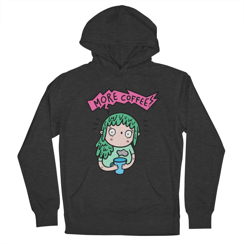More Coffee! Men's French Terry Pullover Hoody by Piratart Illustration
