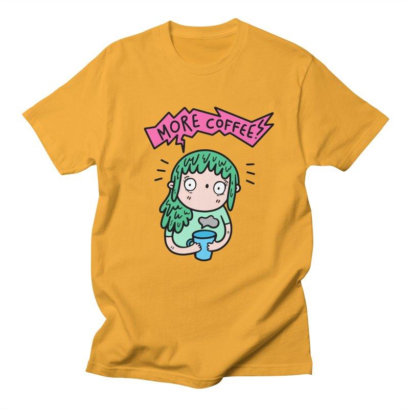 More Coffee! Women's Unisex T-Shirt by Piratart Illustration