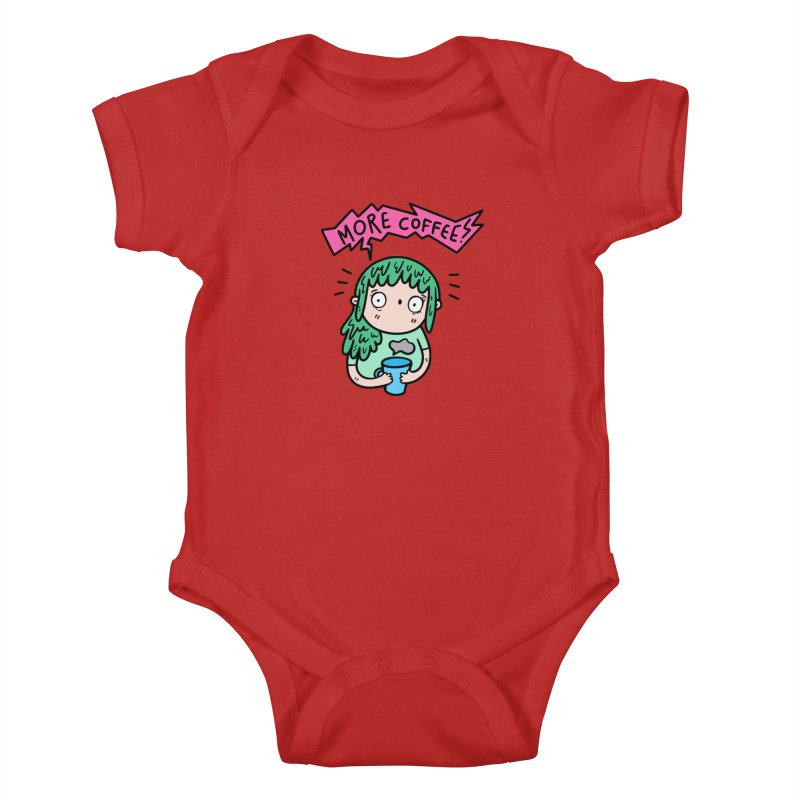 More Coffee! Kids Baby Bodysuit by Piratart Illustration