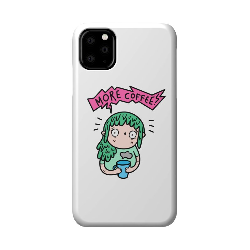 More Coffee! Accessories Phone Case by Piratart Illustration