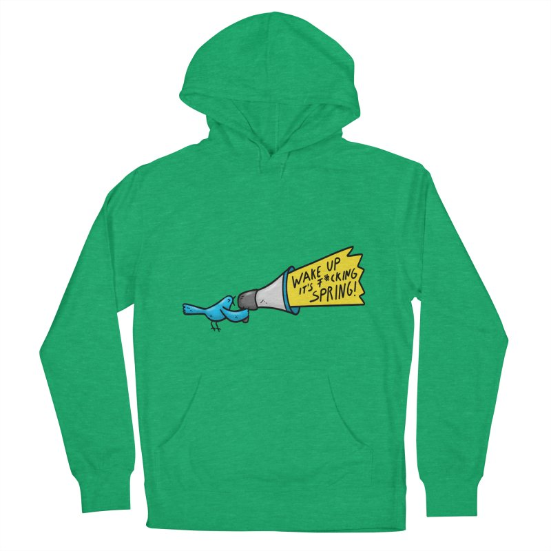 Birdy Spring Men's French Terry Pullover Hoody by Piratart Illustration