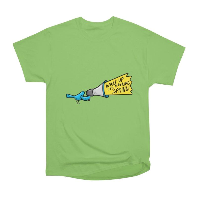 Birdy Spring Men's Heavyweight T-Shirt by Piratart Illustration