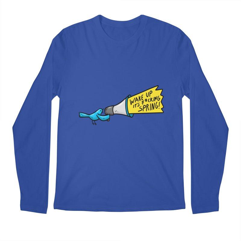 Birdy Spring Men's Longsleeve T-Shirt by Piratart Illustration