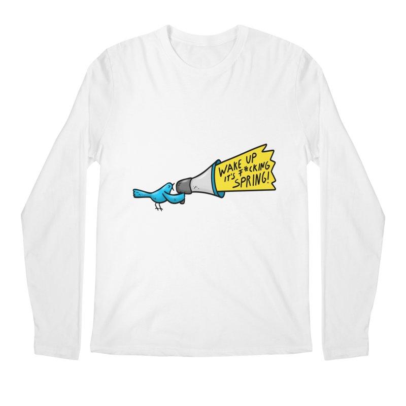Birdy Spring Men's Regular Longsleeve T-Shirt by Piratart Illustration