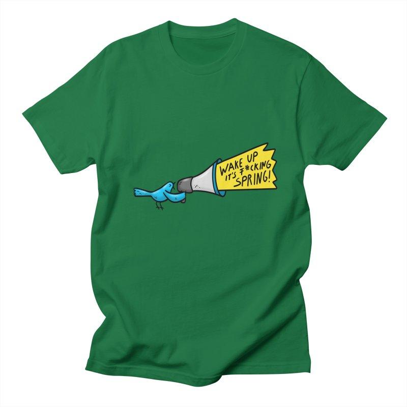 Birdy Spring Women's Regular Unisex T-Shirt by Piratart Illustration