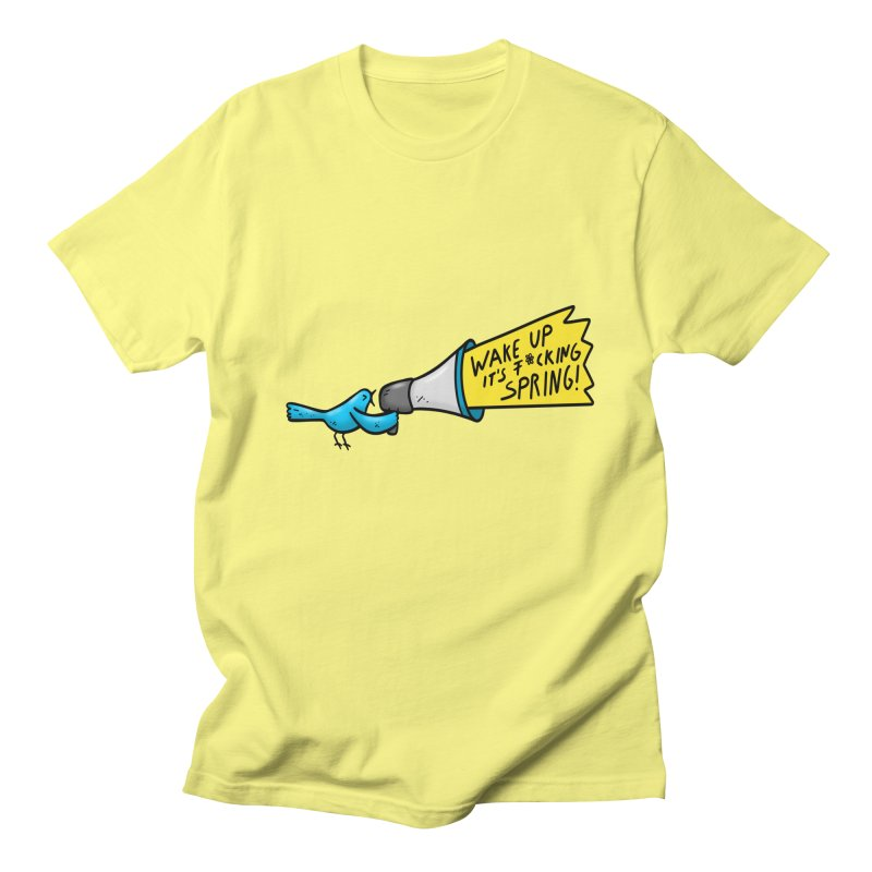 Birdy Spring Men's T-Shirt by Piratart Illustration