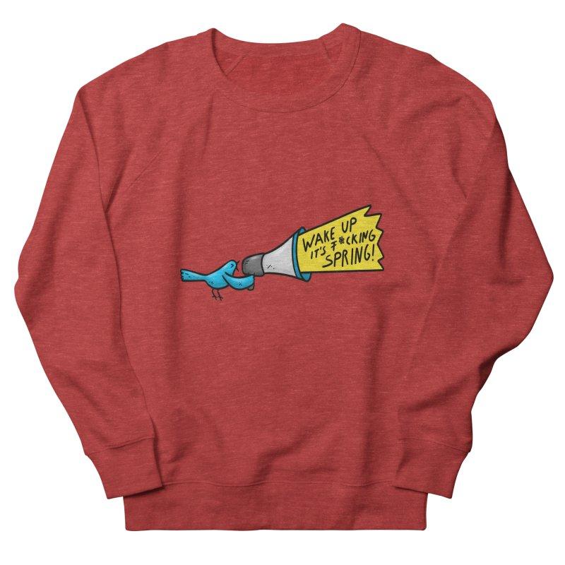 Birdy Spring Men's French Terry Sweatshirt by Piratart Illustration