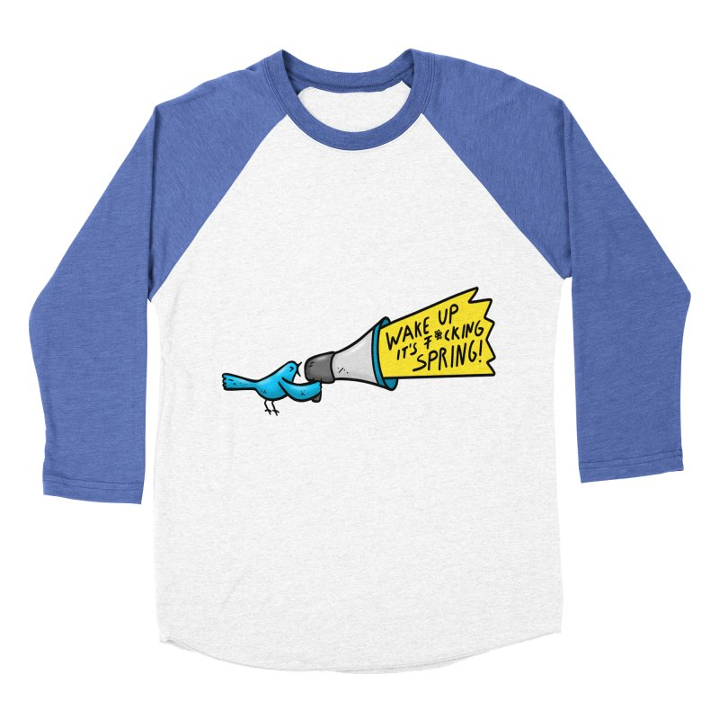 Birdy Spring Women's Baseball Triblend Longsleeve T-Shirt by Piratart Illustration