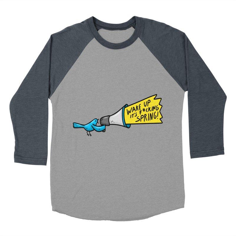 Birdy Spring Women's Baseball Triblend T-Shirt by Piratart Illustration