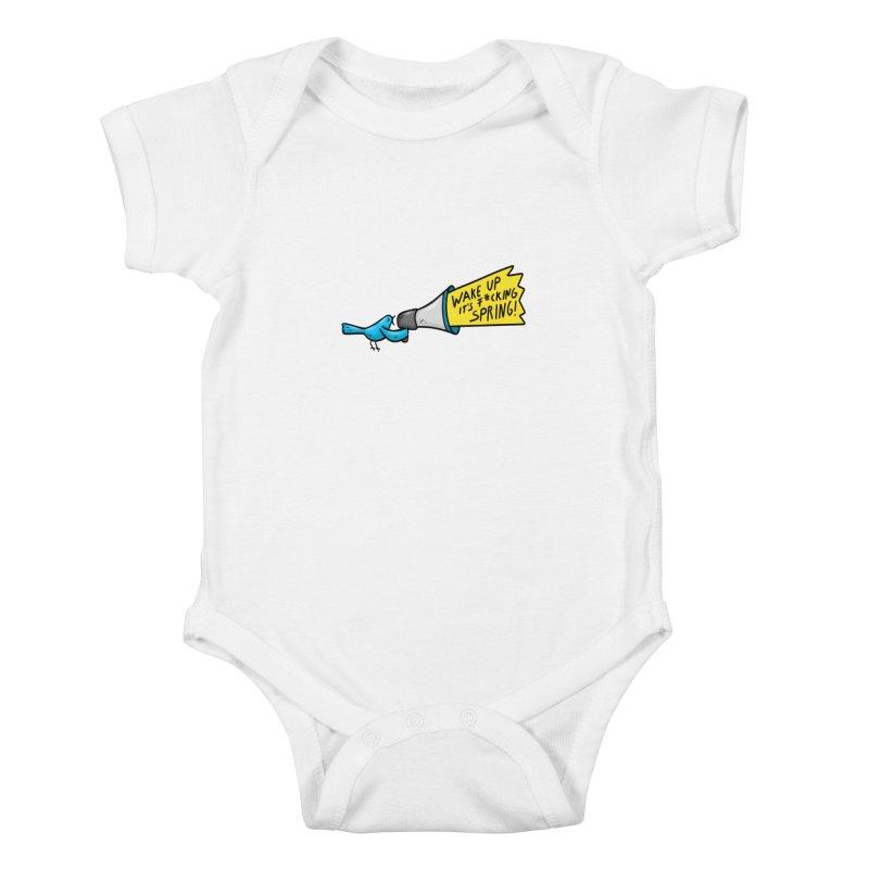 Birdy Spring Kids Baby Bodysuit by Piratart Illustration