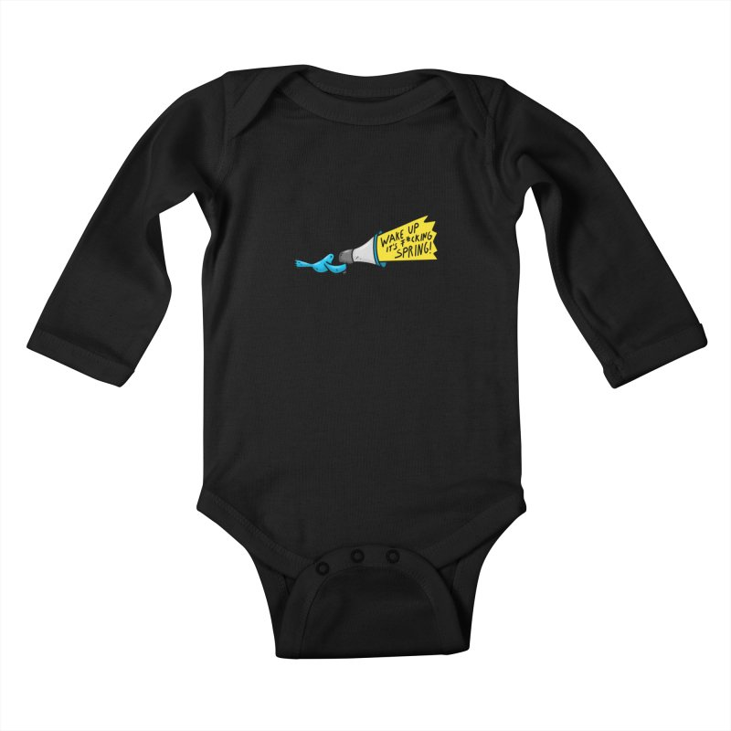 Birdy Spring Kids Baby Longsleeve Bodysuit by Piratart Illustration