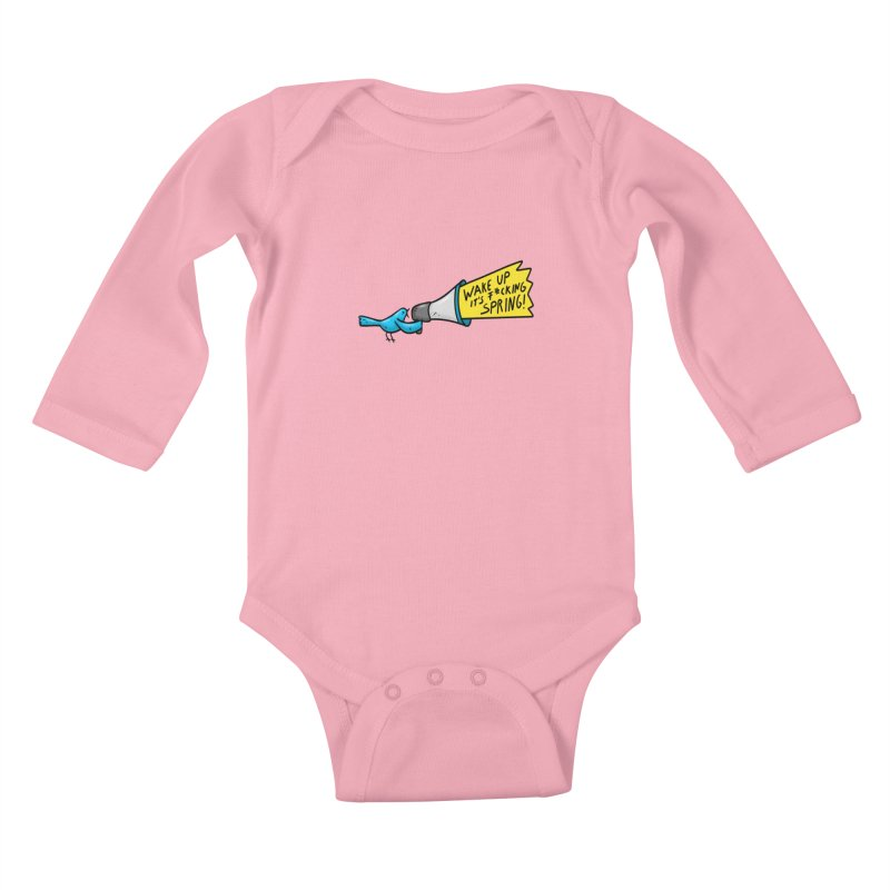 Birdy Spring Kids Baby Longsleeve Bodysuit by Piratart Illustration
