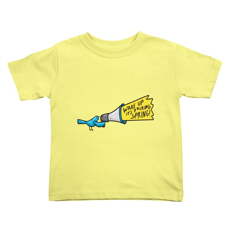 Birdy Spring Kids Toddler T-Shirt by Piratart Illustration
