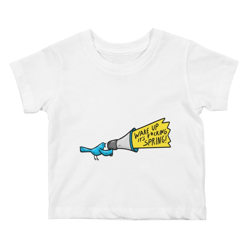 Birdy Spring Kids Baby T-Shirt by Piratart Illustration